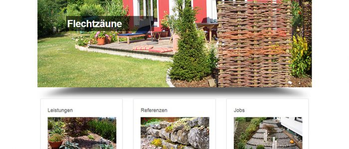 Neue Website, Dirk Prothmann Garten- und Landschaftsbau, Hille