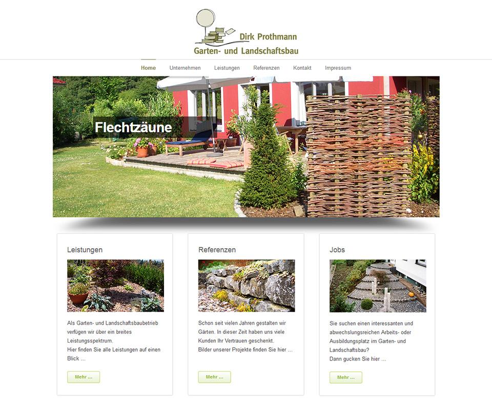 Garten- und Landschaftsbau Dirk Prothmann Neue Website, Dirk ...