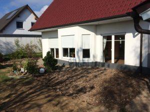 Terrassengestaltung mit Prägebeton, Dirk Prothmann Garten- und Landschaftsbau, Hille