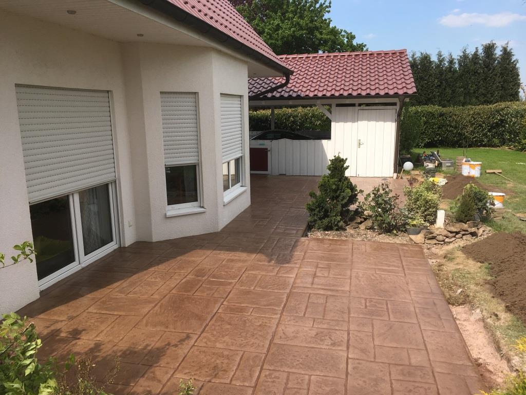 Garten und landschaftsbau dirk prothmann terassengestaltung mit pr gebeton garten und - Garten und terrassengestaltung ...