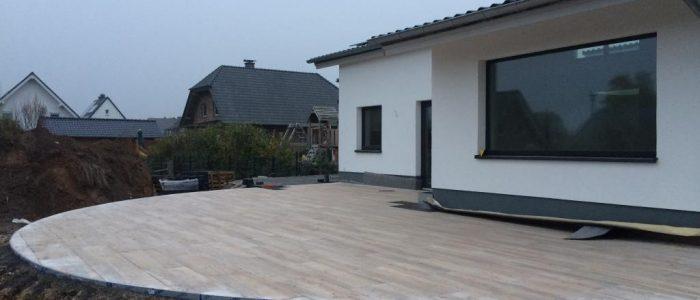Anlegen einer Terrasse, Dirk Prothmann Garten- und Landschaftsbau, Hille