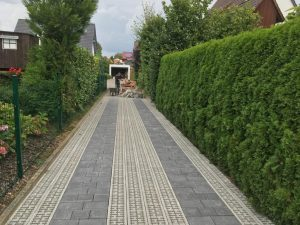 Eine neue Zuwegung zum Einfamilienhaus, Dirk Prothmann Garten- und Landschaftsbau, Hille