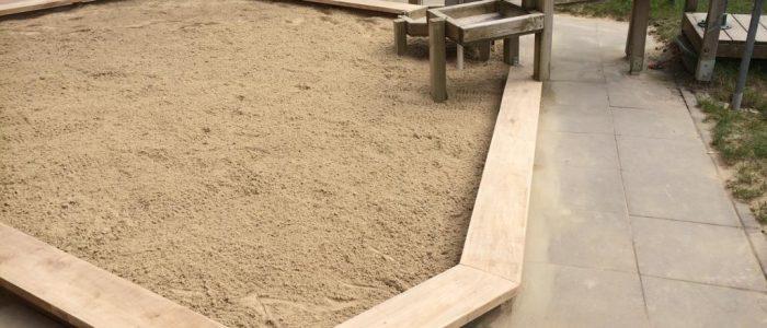 Sandkastensanierung im Kindergarten, Dirk Prothmann Garten- und Landschaftsbau, Hille