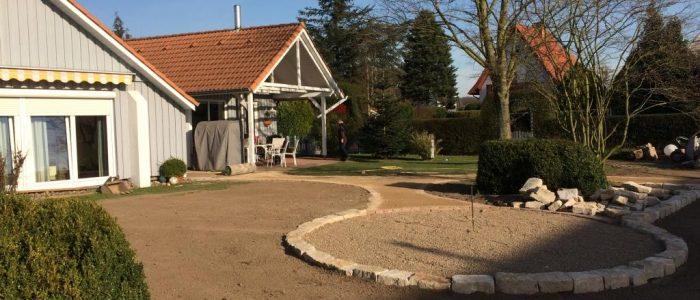 Gartenanlage mit Wassergebundener Wegedecke, Dirk Prothmann Garten- und Landschaftsbau, Hille